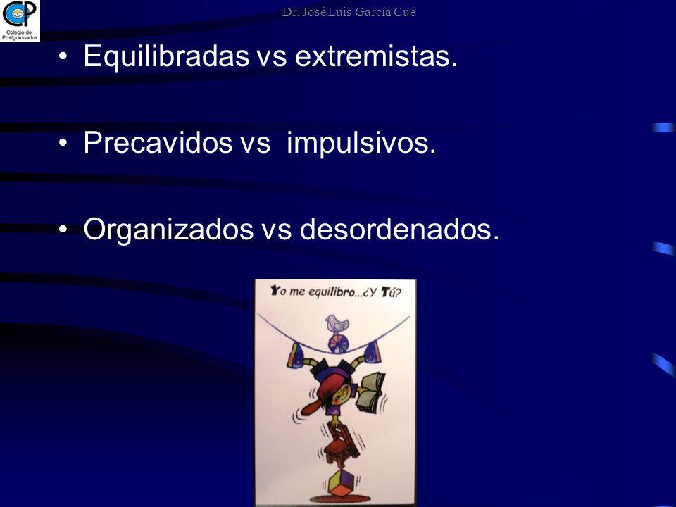 Equilibradas vs extremistas. Precavidos vs impulsivos.