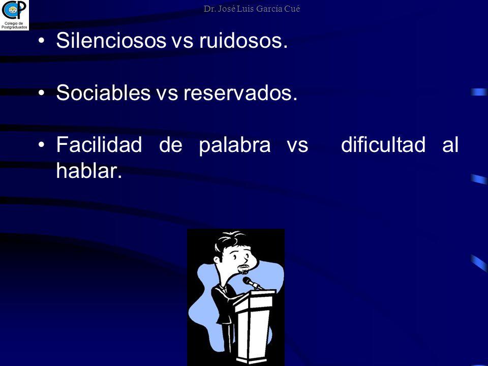 Silenciosos vs ruidosos. Sociables vs reservados.