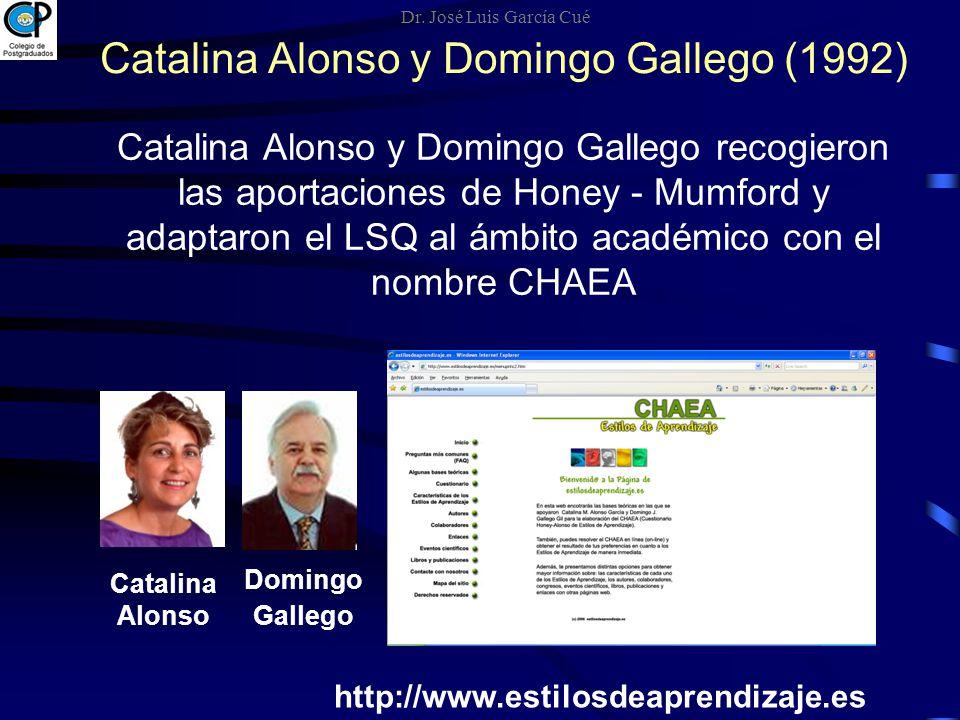Catalina Alonso y Domingo Gallego (1992)