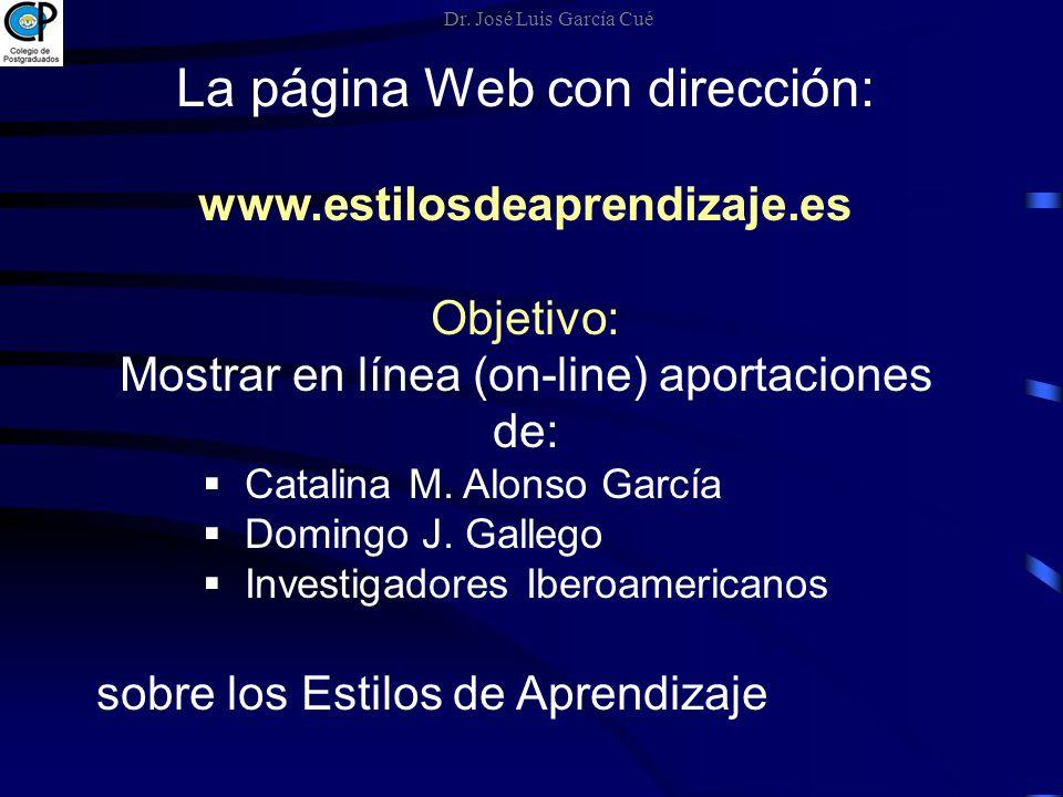 La página Web con dirección:
