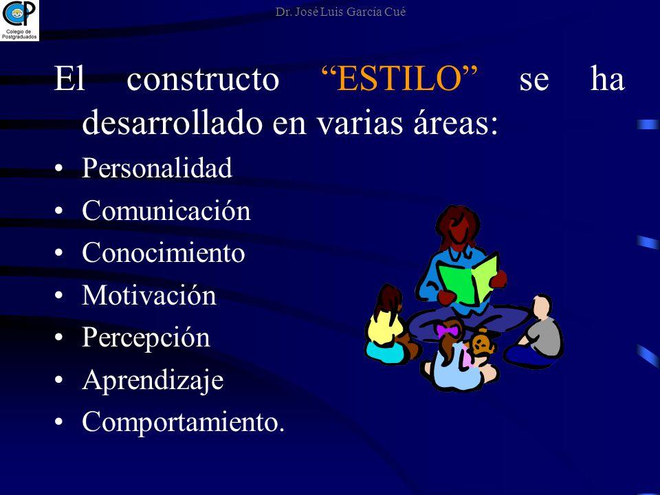 El constructo ESTILO se ha desarrollado en varias áreas: