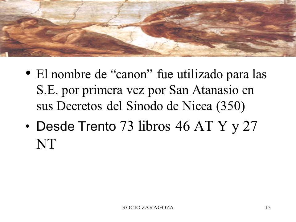 Desde Trento 73 libros 46 AT Y y 27 NT