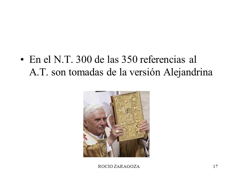 En el N. T. 300 de las 350 referencias al A. T
