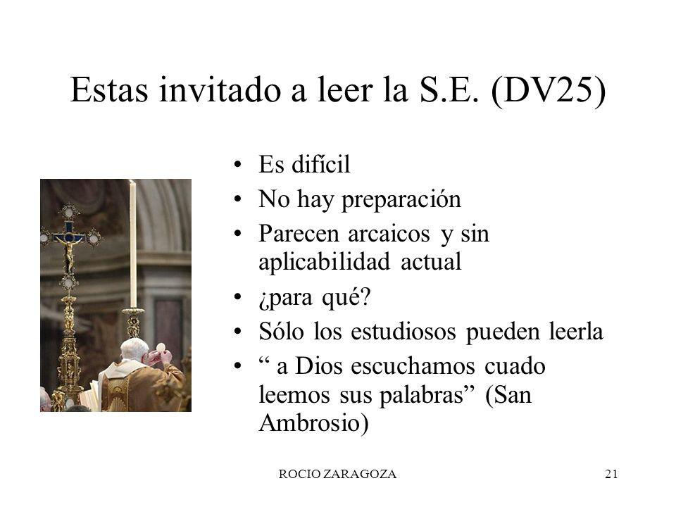Estas invitado a leer la S.E. (DV25)