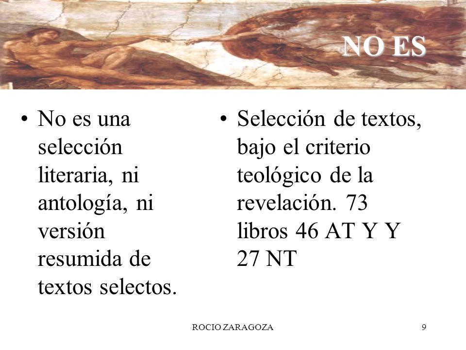 NO ES No es una selección literaria, ni antología, ni versión resumida de textos selectos.