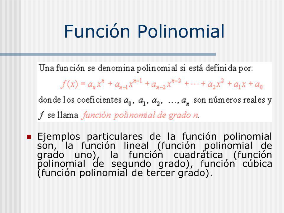 Función Polinomial