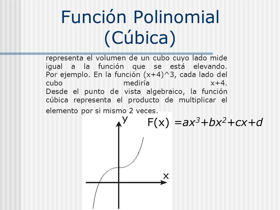 Función Polinomial (Cúbica)