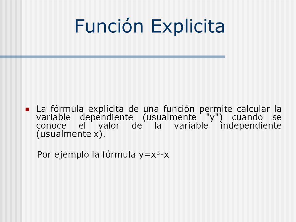 Función Explicita
