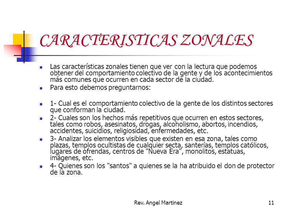 CARACTERISTICAS ZONALES
