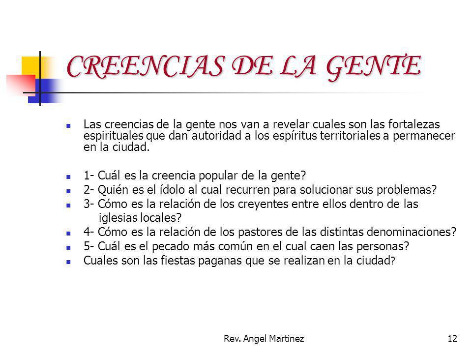 CREENCIAS DE LA GENTE