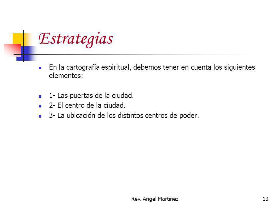 Estrategias En la cartografía espiritual, debemos tener en cuenta los siguientes elementos: 1- Las puertas de la ciudad.