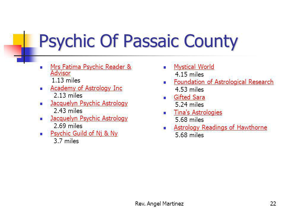Psychic Of Passaic County