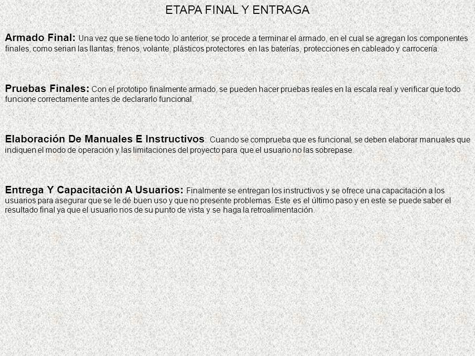 ETAPA FINAL Y ENTRAGA