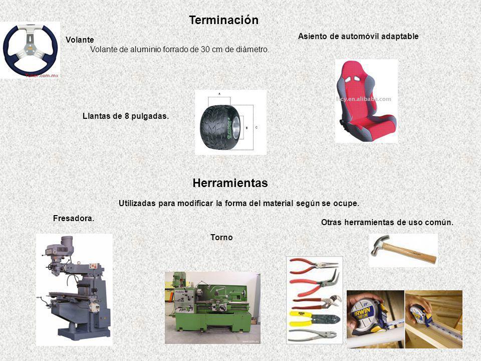 Utilizadas para modificar la forma del material según se ocupe.