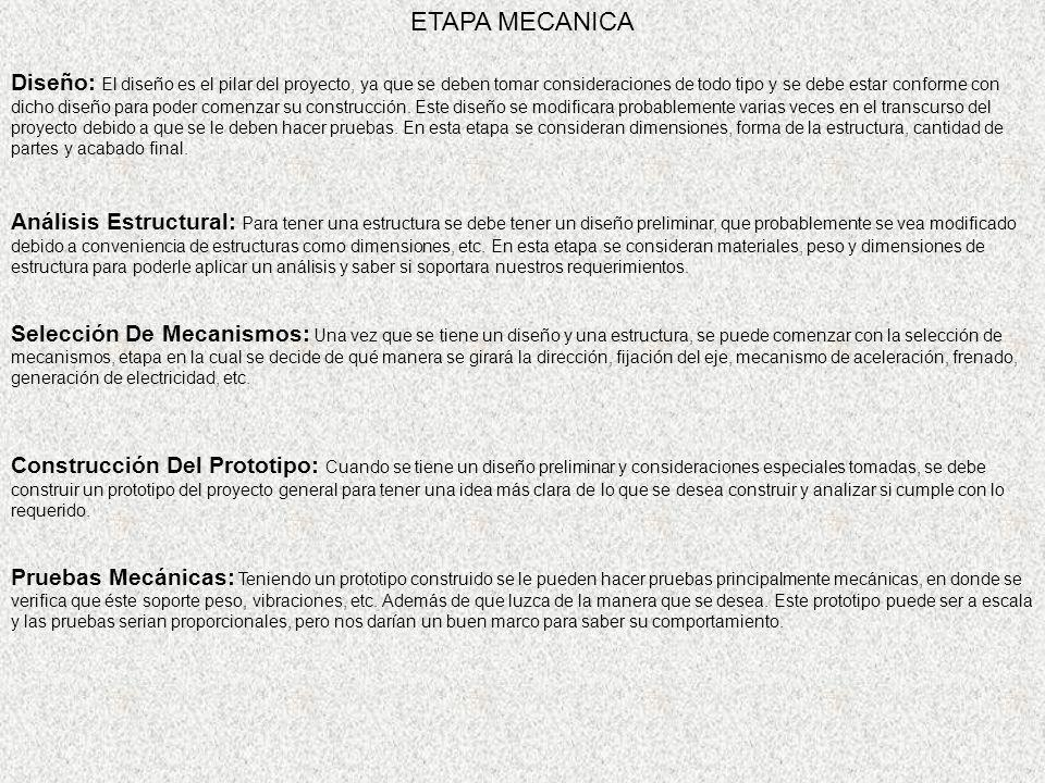 ETAPA MECANICA