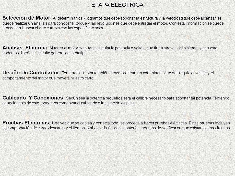 ETAPA ELECTRICA