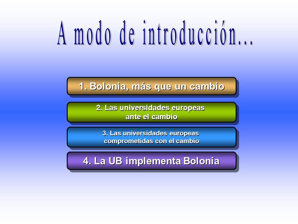 A modo de introducción... 1. Bolonia, más que un cambio