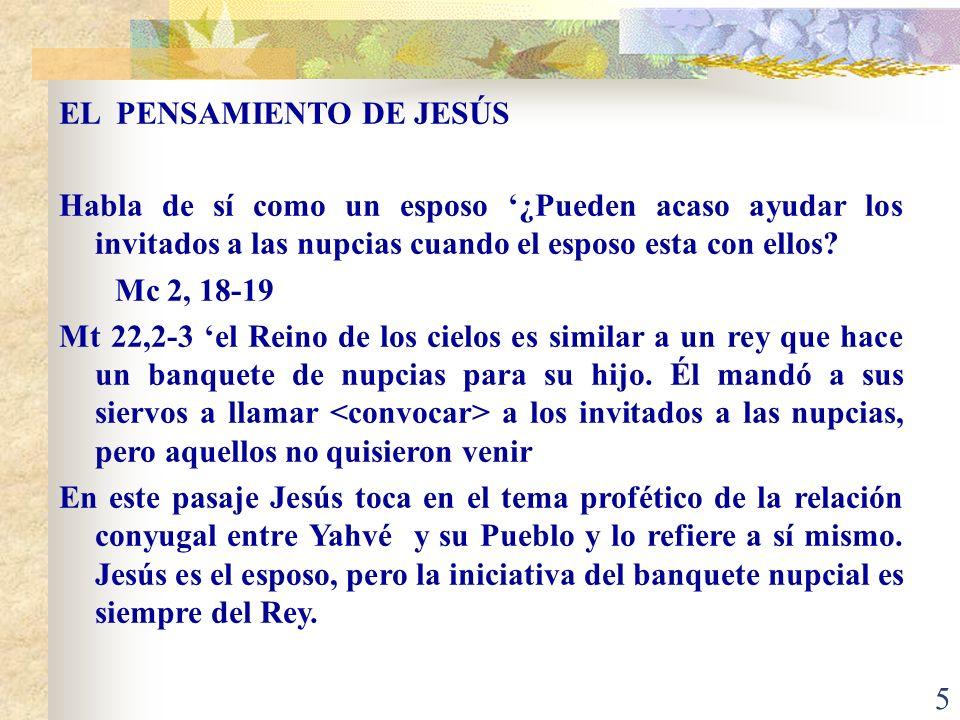 EL PENSAMIENTO DE JESÚS