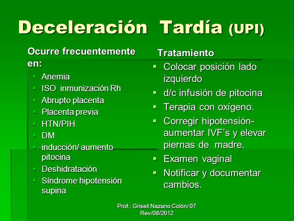 Deceleración Tardía (UPI)