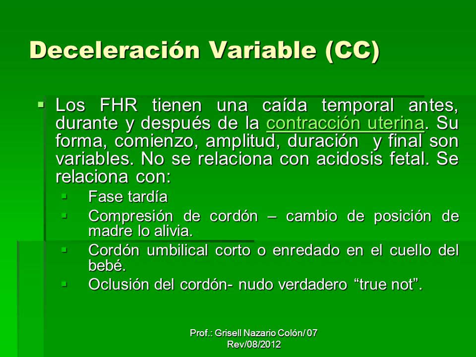 Deceleración Variable (CC)
