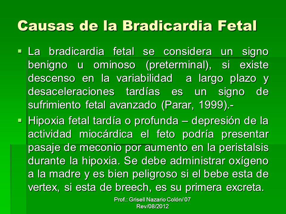 Causas de la Bradicardia Fetal