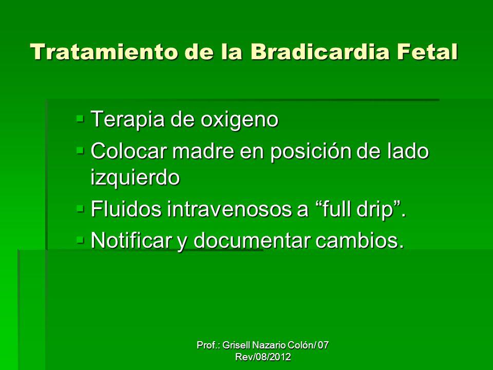 Tratamiento de la Bradicardia Fetal