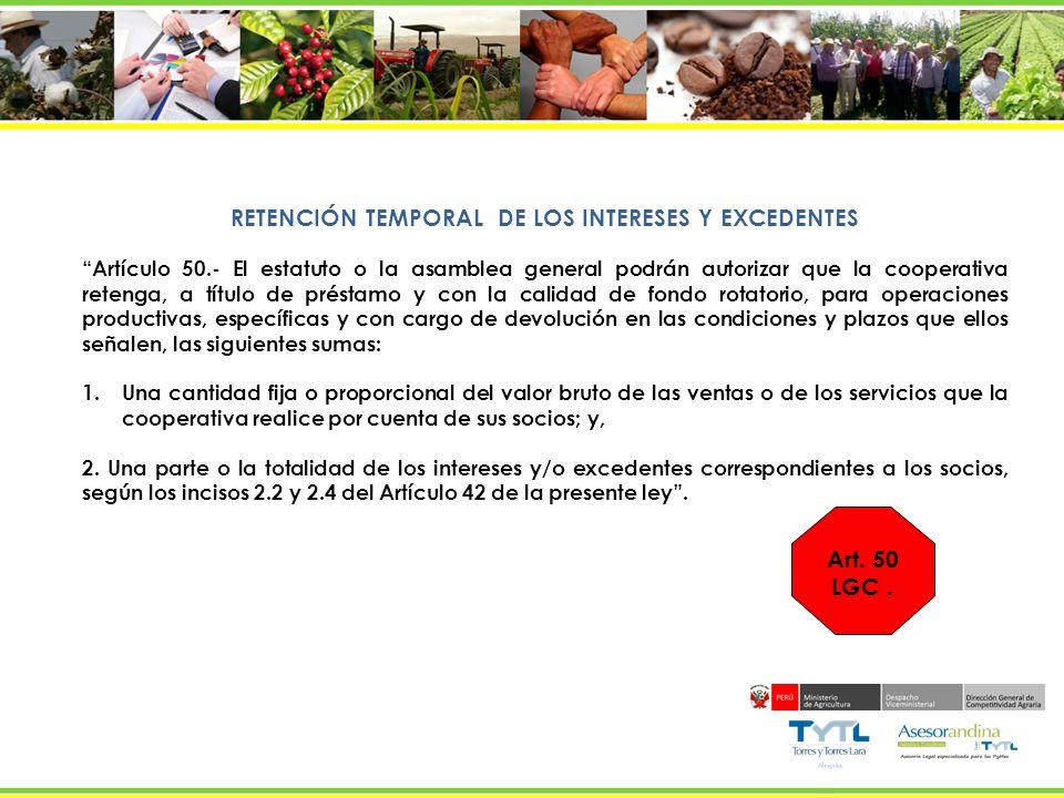 RETENCIÓN TEMPORAL DE LOS INTERESES Y EXCEDENTES
