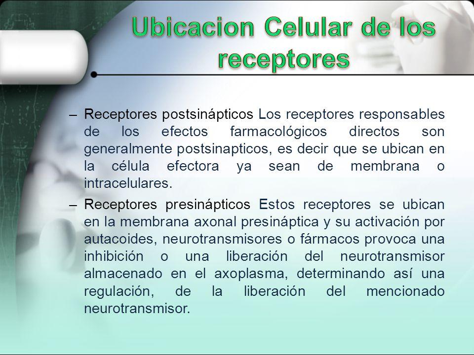 Ubicacion Celular de los receptores