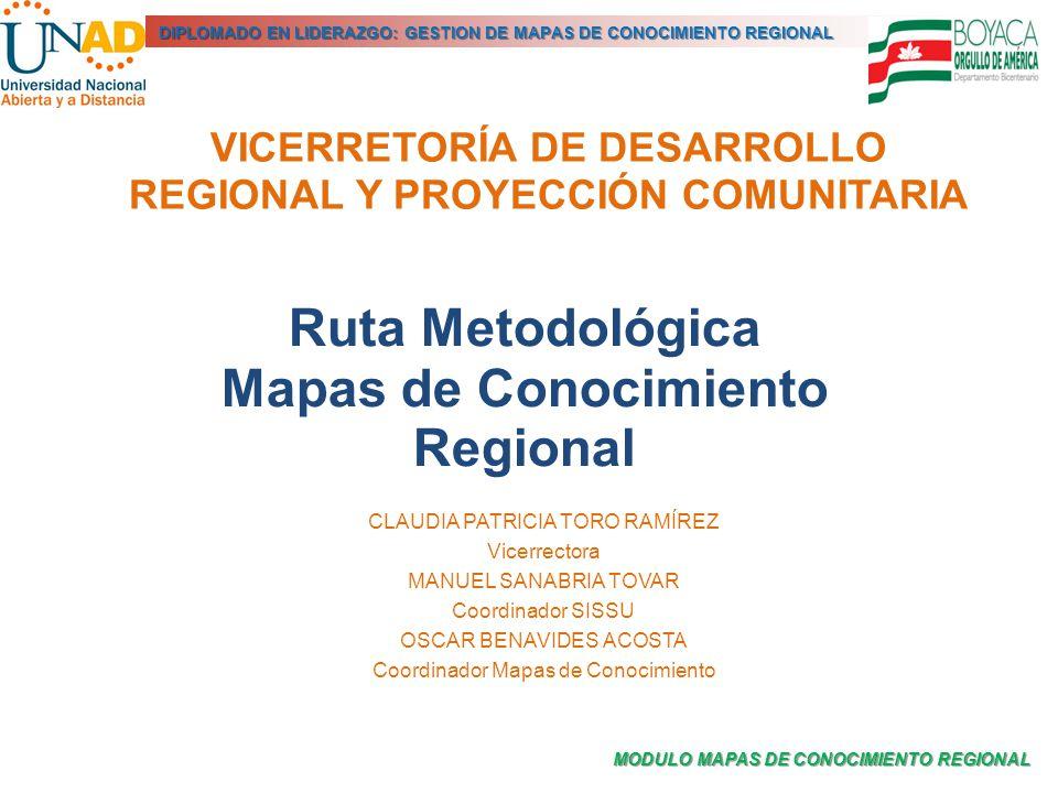 VICERRETORÍA DE DESARROLLO REGIONAL Y PROYECCIÓN COMUNITARIA