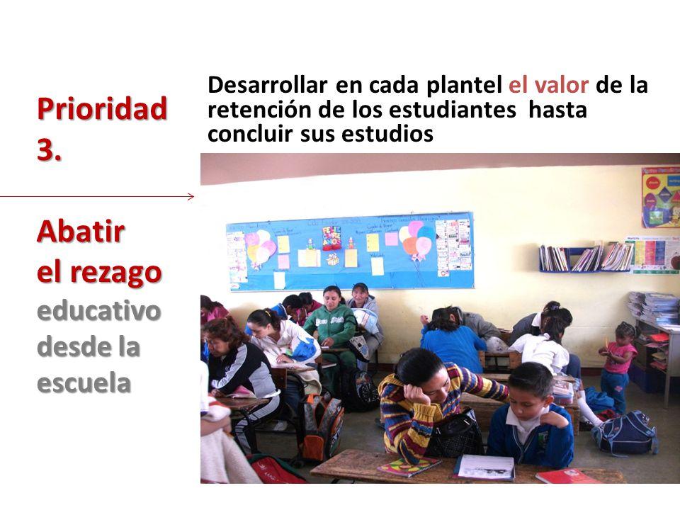 el rezago educativo desde la escuela