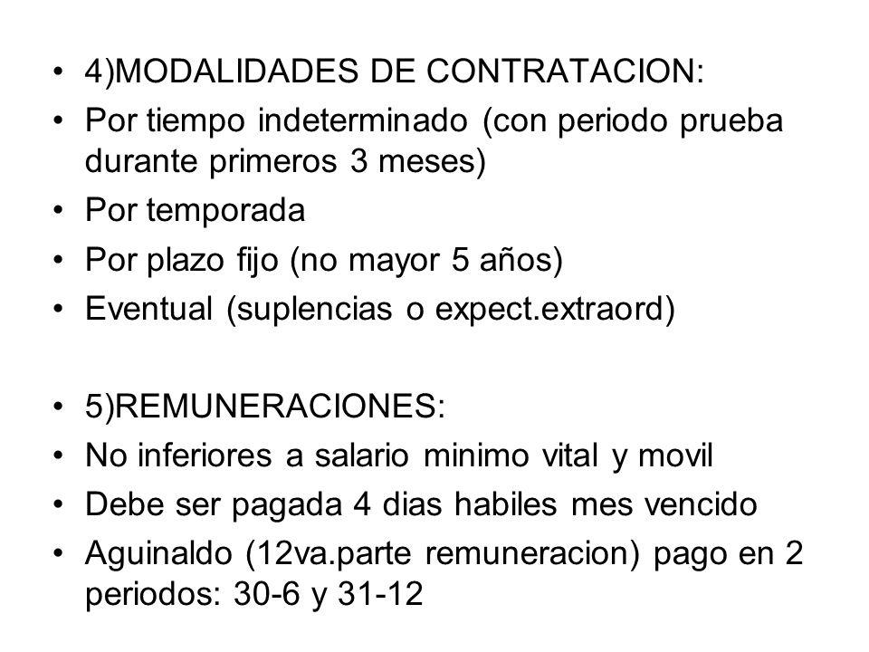4)MODALIDADES DE CONTRATACION: