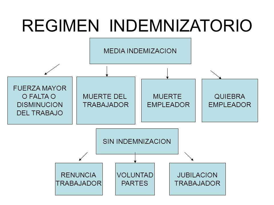 REGIMEN INDEMNIZATORIO