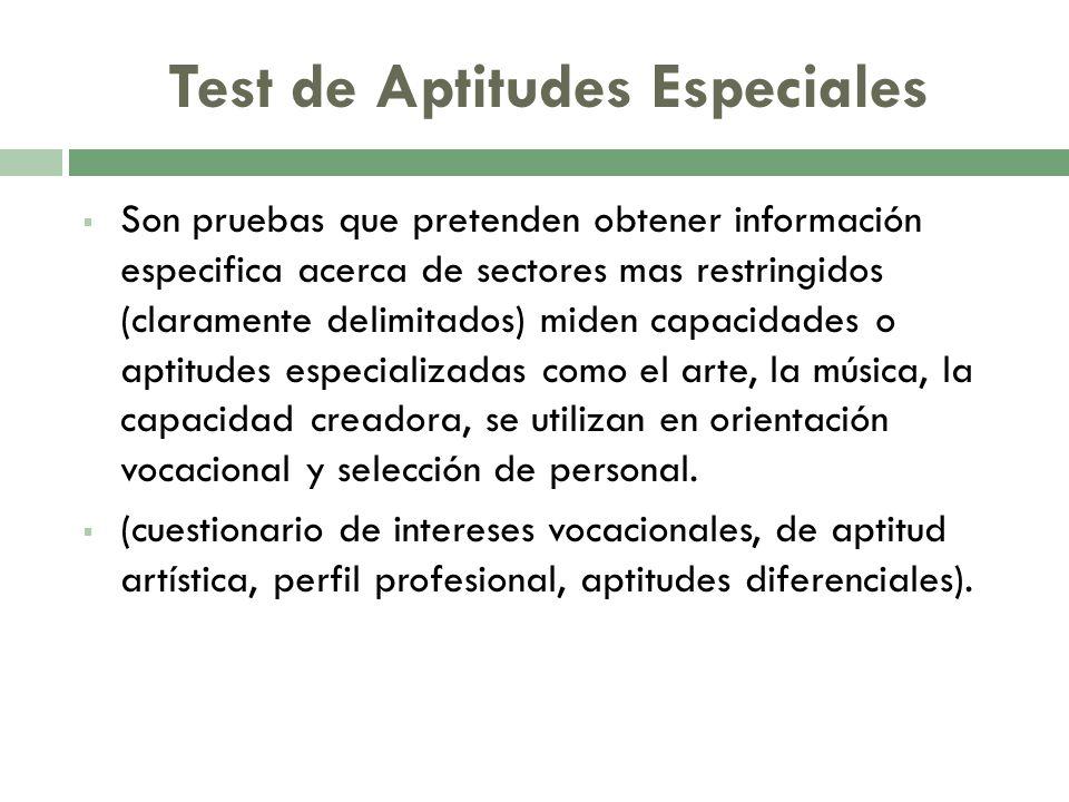 Test de Aptitudes Especiales