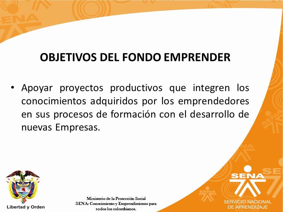 OBJETIVOS DEL FONDO EMPRENDER
