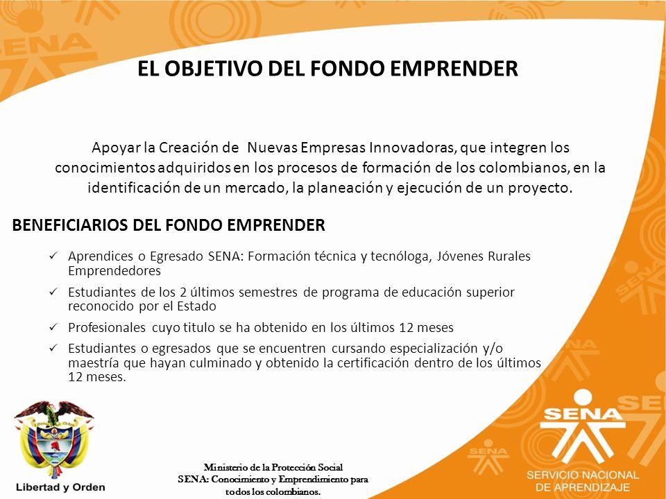 EL OBJETIVO DEL FONDO EMPRENDER