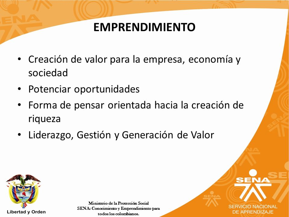 EMPRENDIMIENTO Creación de valor para la empresa, economía y sociedad