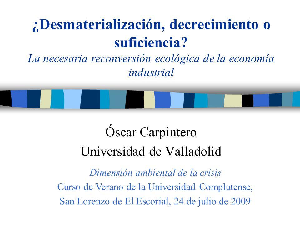 Óscar Carpintero Universidad de Valladolid