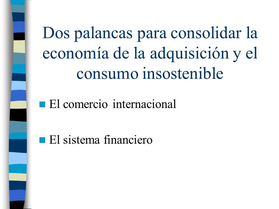 Dos palancas para consolidar la economía de la adquisición y el consumo insostenible