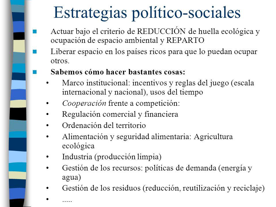 Estrategias político-sociales