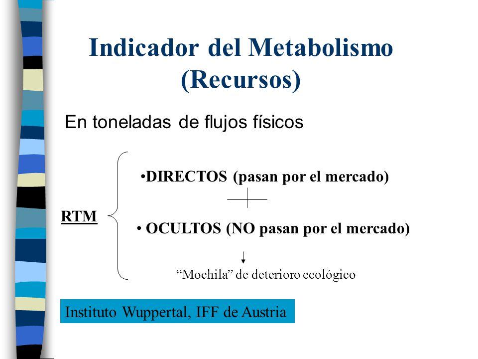 Indicador del Metabolismo (Recursos)