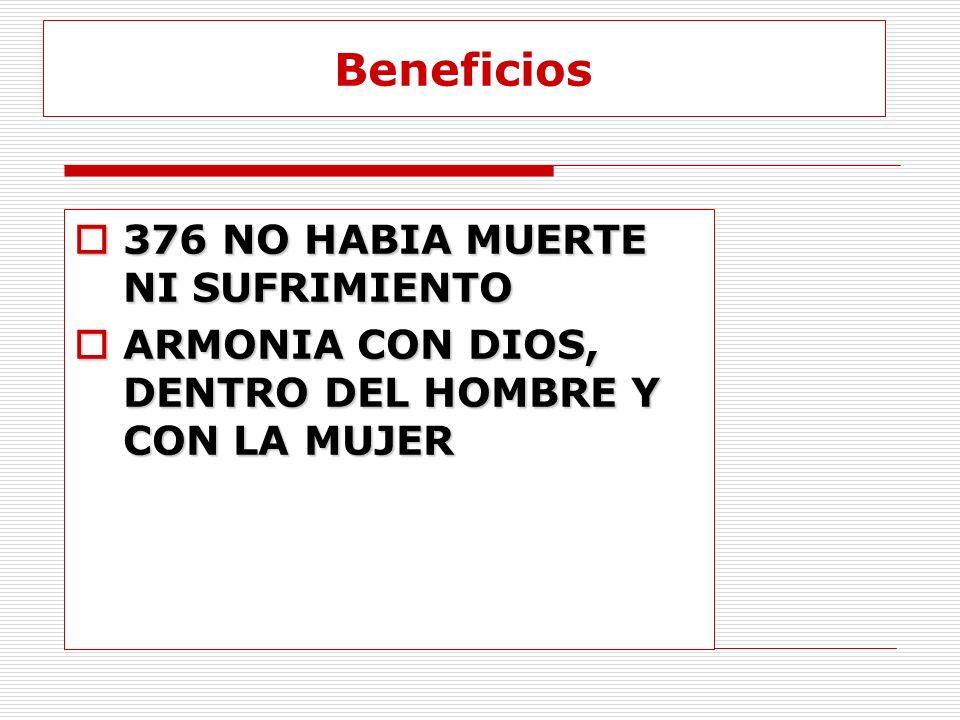 Beneficios 376 NO HABIA MUERTE NI SUFRIMIENTO