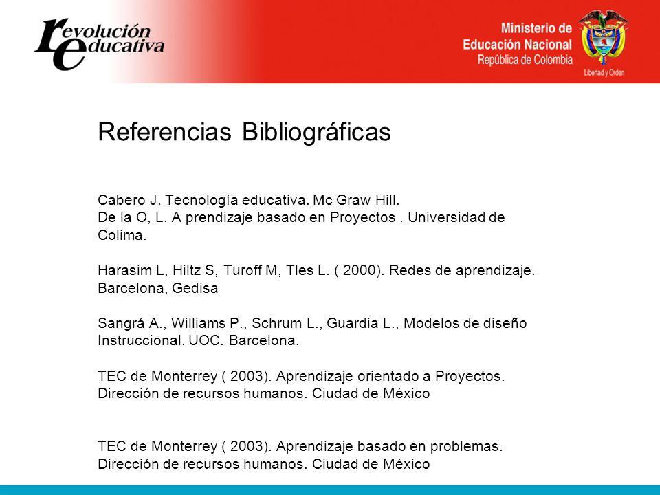 Referencias Bibliográficas Cabero J. Tecnología educativa.