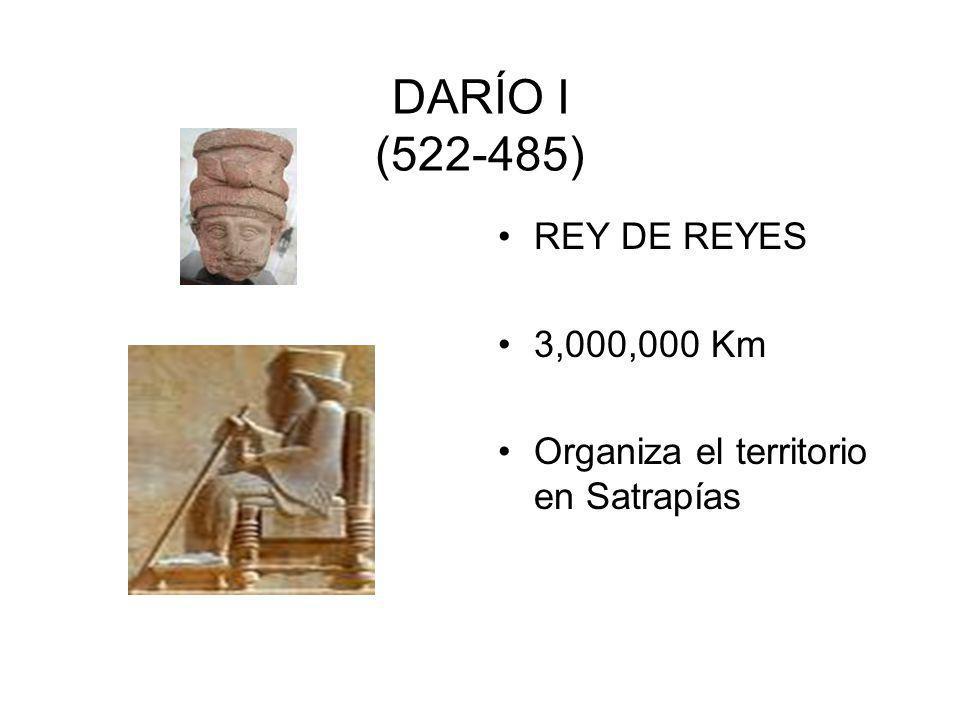 DARÍO I (522-485) REY DE REYES 3,000,000 Km