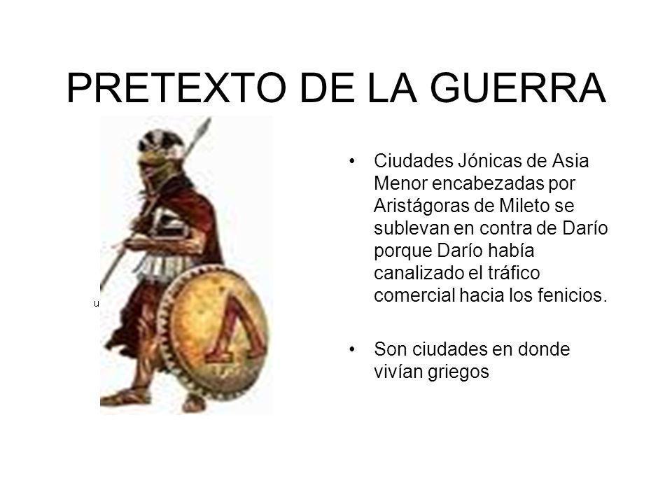 PRETEXTO DE LA GUERRA