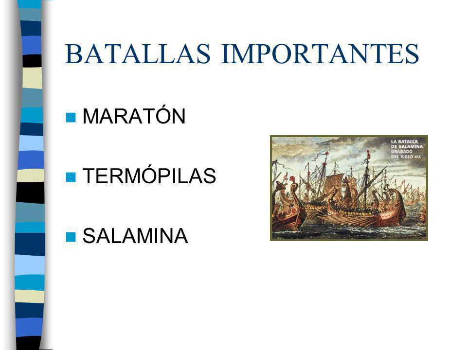 BATALLAS IMPORTANTES MARATÓN TERMÓPILAS SALAMINA