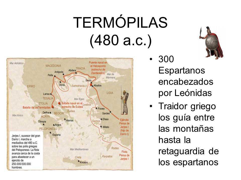 TERMÓPILAS (480 a.c.) 300 Espartanos encabezados por Leónidas