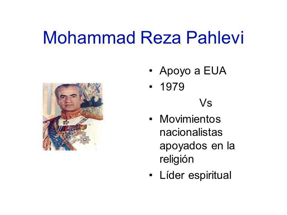 Mohammad Reza Pahlevi Apoyo a EUA 1979 Vs
