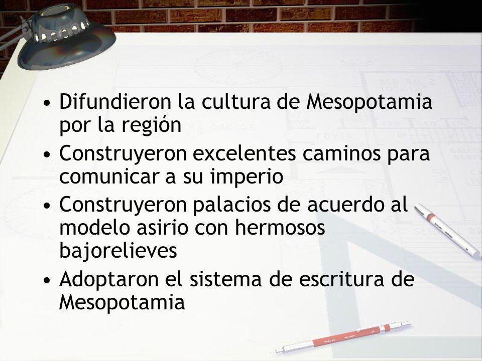 Difundieron la cultura de Mesopotamia por la región