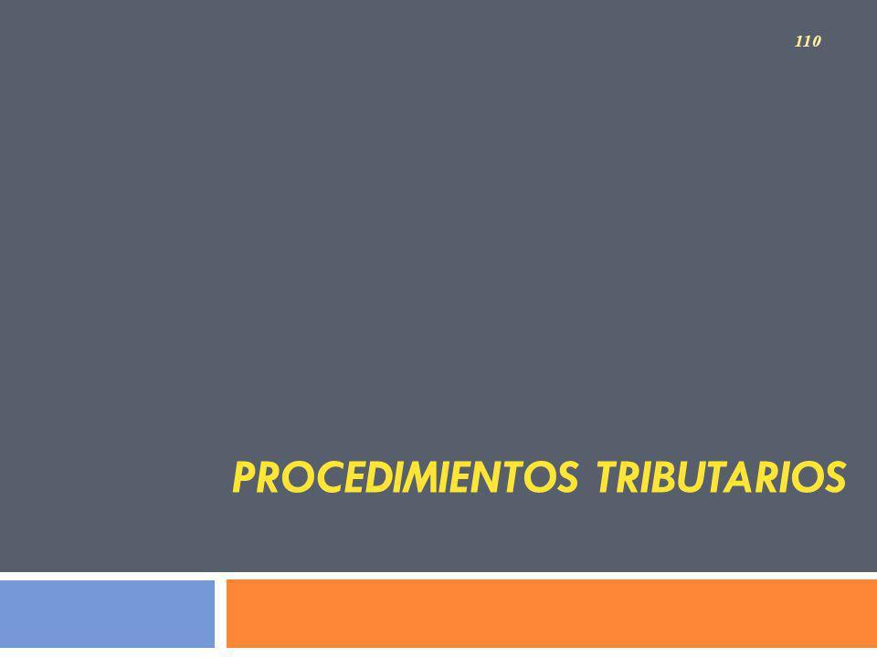 Procedimientos Tributarios