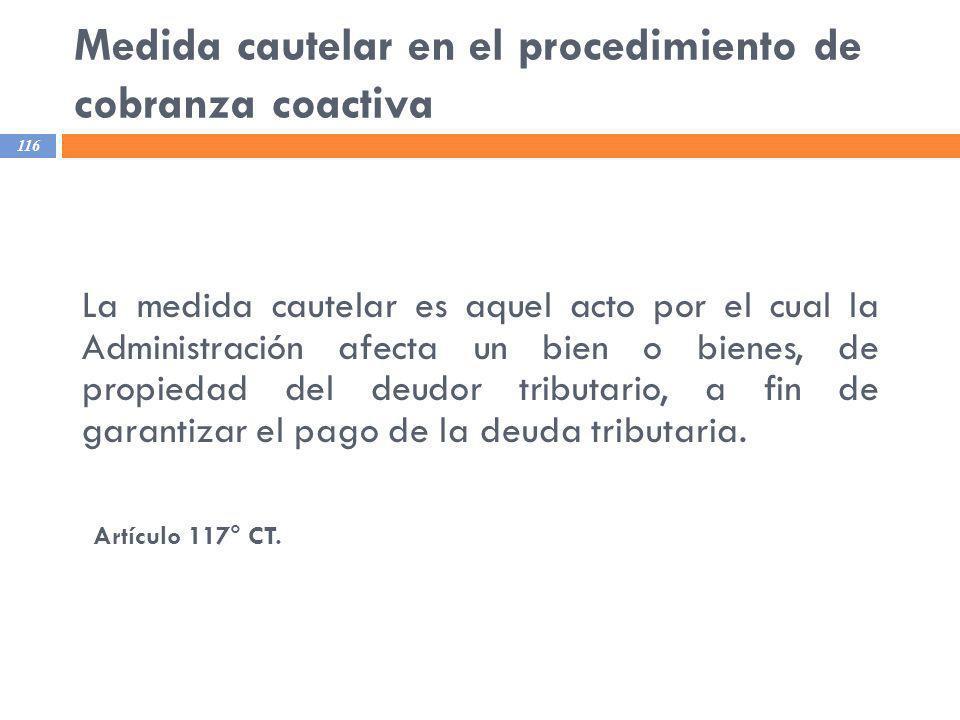 Medida cautelar en el procedimiento de cobranza coactiva